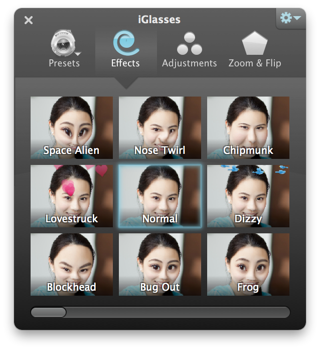iGlasses for Mac - Effects and Adjustments for your Webcam