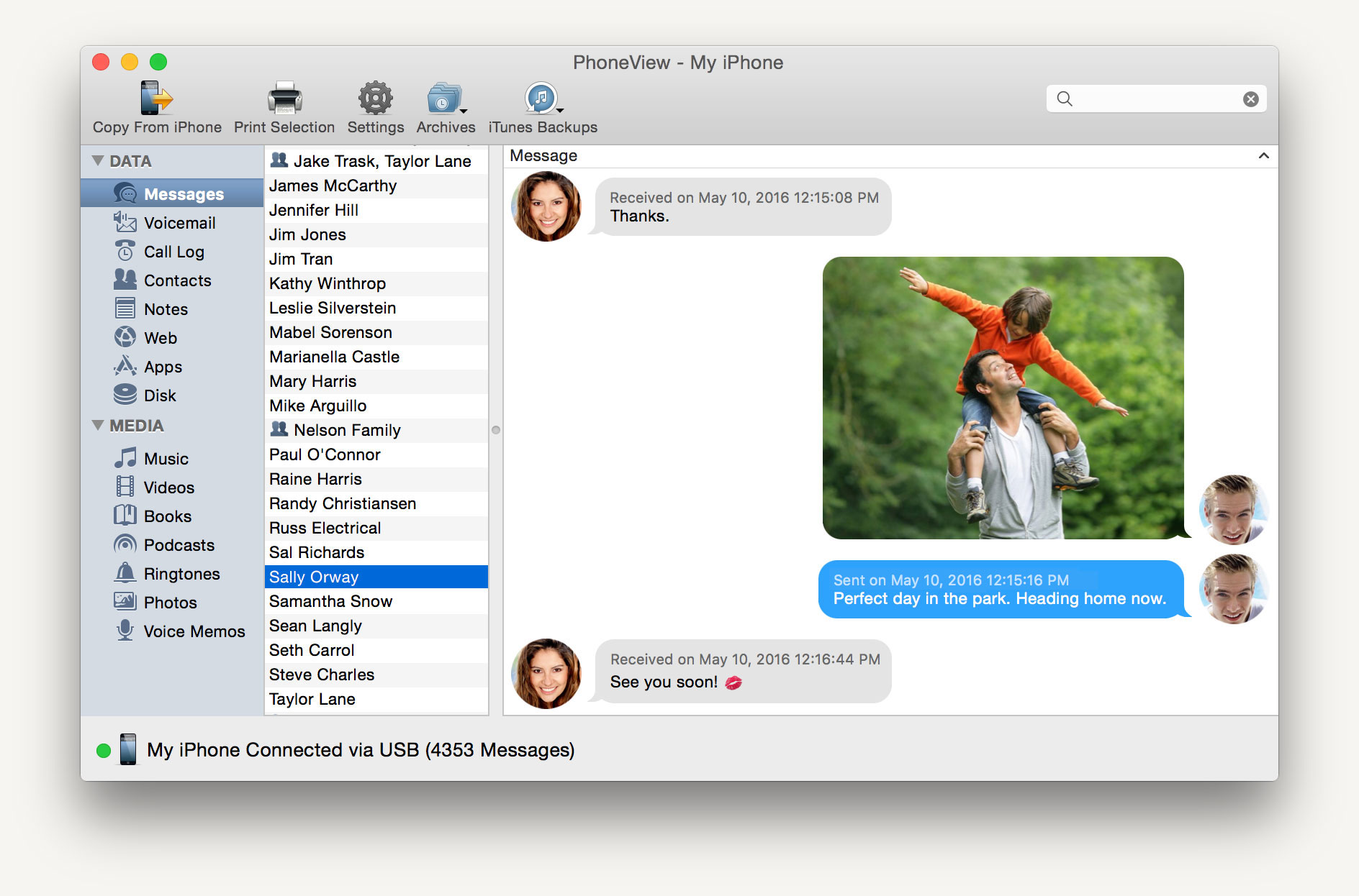 PhoneView for Mac: Save the data you love